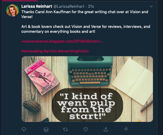 Twitter blog example