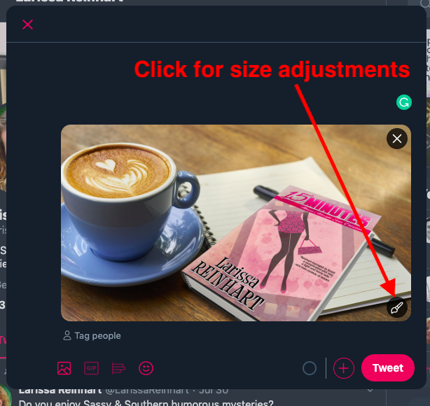 Adjust ad size onTwitter