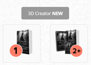 3D and 2D Book Covers
