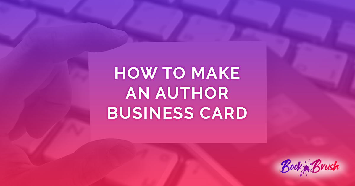 author business card how to