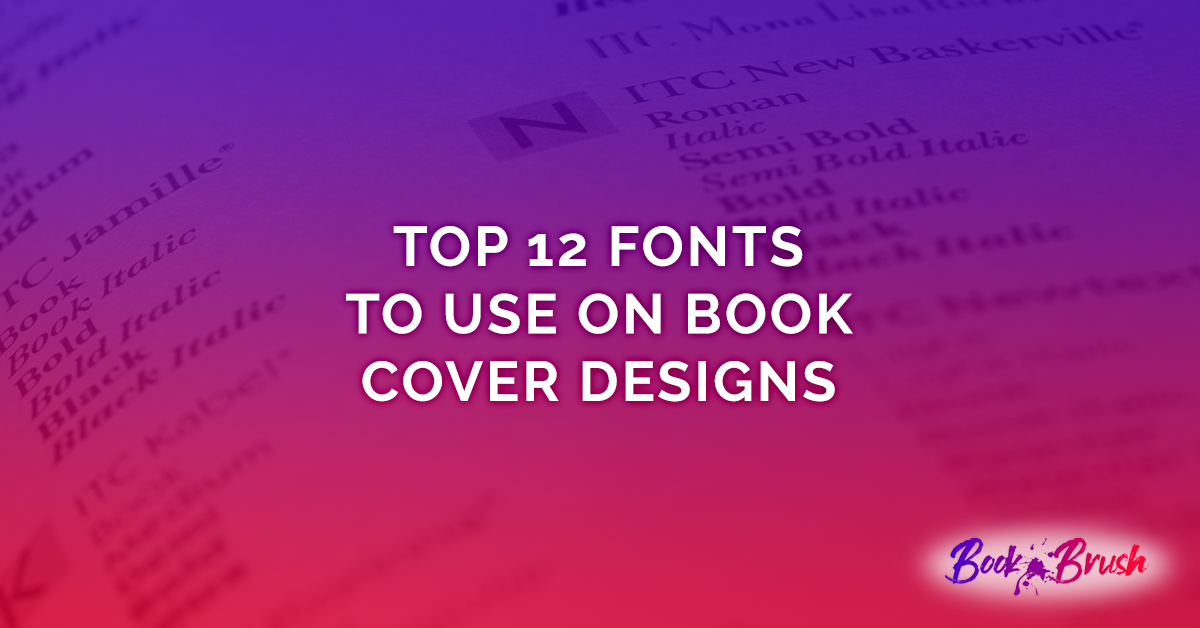 fonts for book covers