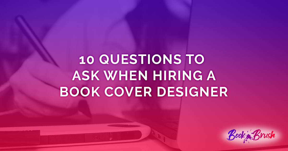 Header image for Questions to ask when hiring a book cover designer