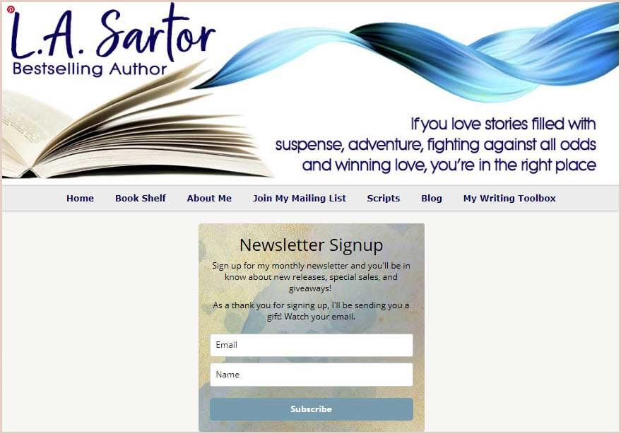 Sartor landing page