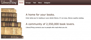 Library Thing site header